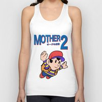 earthbound Tank Tops featuring Mother 2 / Earthbound / Super Mario Bros. 3 Style by Studio Momo╰༼ ಠ益ಠ ༽