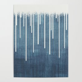 DROPS / Azure Blue, Cool Gray Poster
