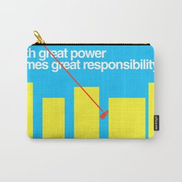 Minimal Superhero Poster Carry-All Pouch