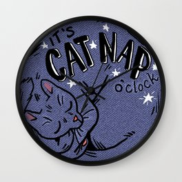 Cat Nap o'Clock Wall Clock