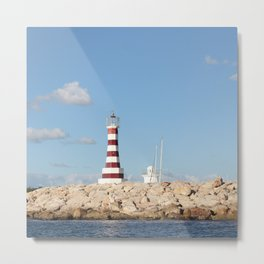 Picturesque Lighthouse in the Caribbean Metal Print