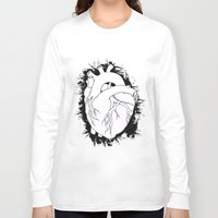 anatomical heart Long Sleeve T-shirts featuring Anatomical Heart by JodiYoung
