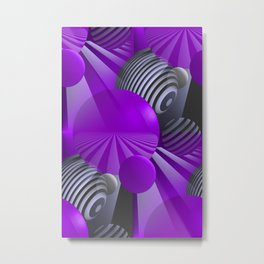 3D - abstraction -110- Metal Print