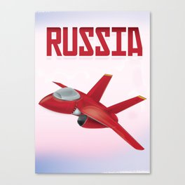 Russia Fighter Aircraft Promo Poster Print Canvas Print
