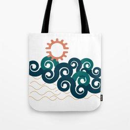 sun in a beach Tote Bag