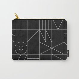 My Favorite Geometric Patterns No.9 - Black Carry-All Pouch