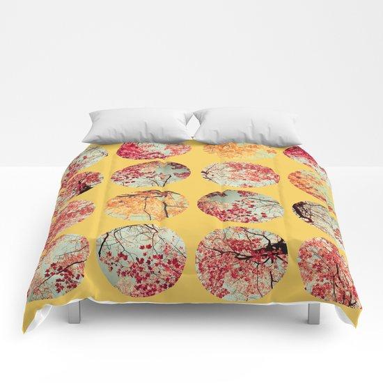 Sunflower Inkblot Comforters
