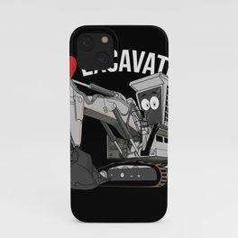 I Love Excavator iPhone Case