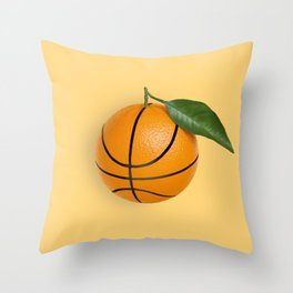 Basketball Orange Orangeball Throw Pillow