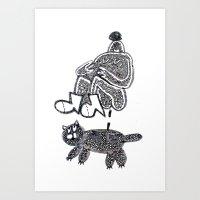 Cat Bath Art Print