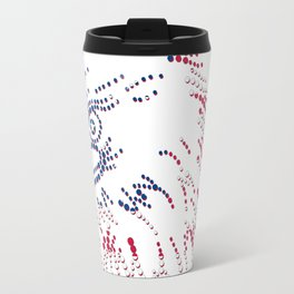 American Patriotic Colors Bald Eagle  Travel Mug