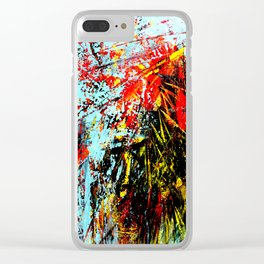 Floreal Abstraction Clear iPhone Case