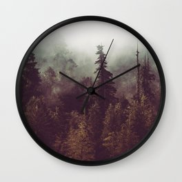 Weekend Escape - Forest Nature Photography Wall Clock