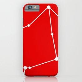 Libra (White & Red) iPhone Case