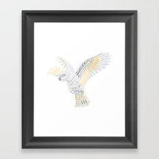 Geometric Cockatoo Framed Art Print