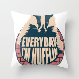 Badger Magic Nature Funny Book Movie House Gift Throw Pillow