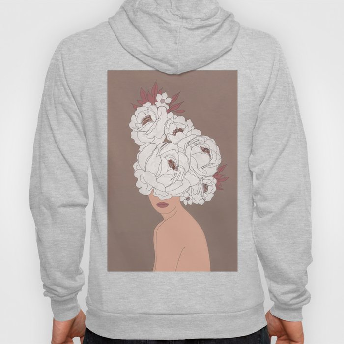 Woman with Peonies Hoody