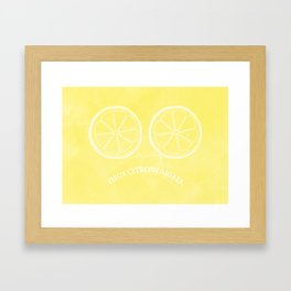 Two Lemons. Framed Art Print