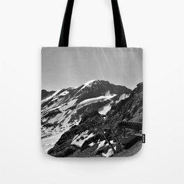 glacier end 3 kaunertal alps tyrol austria europe black white Tote Bag