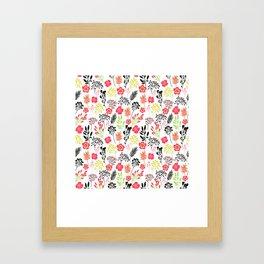 Florals. Joyful flowers. Framed Art Print