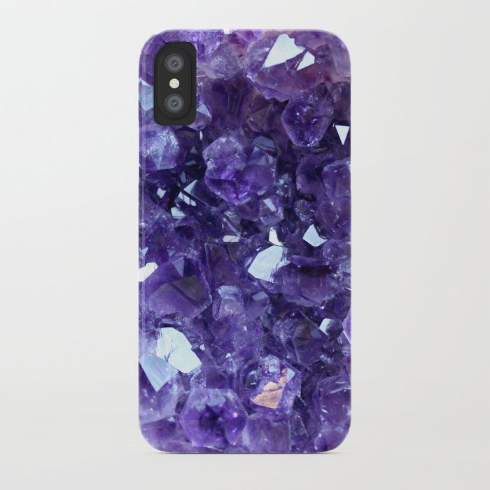 buy online 08da6 37a8b Raw Amethyst - Crystal Cluster iPhone Case by truthbetold