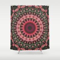 spiritual Shower Curtains featuring Spiritual Rhythm Mandala by Elias Zacarias