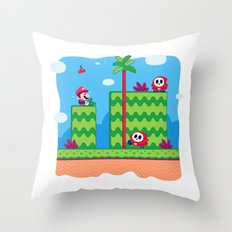 Tiny Worlds - Super Mario Bros. 2: Mario Throw Pillow