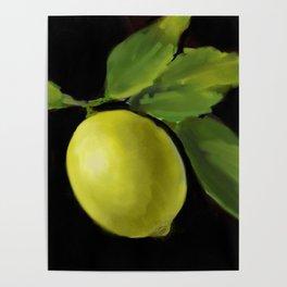 Lemon on Black DP150415a Poster