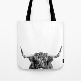 "Highland Cow ""I See You"" Tote Bag"