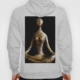 Gold and Silver Yoga Body Form in Lotus Position Hoody