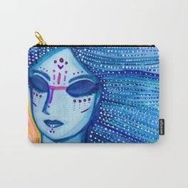 Blue Lidded Daughter of Sunset Carry-All Pouch