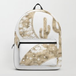 Cactus Desert Nights Gold Backpack