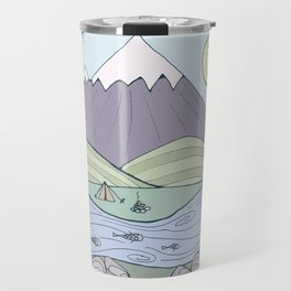 Camping in the Forest Travel Mug