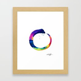 Enso Of Zen No. 16 by Kathy Morton Stanion Framed Art Print