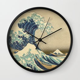 The Great Wave - Katsushika Hokusai Wall Clock