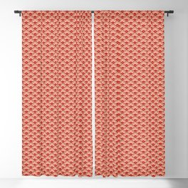 Deco Chinese Scallops, Peach, Rust and Cream Blackout Curtain