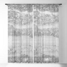 Deep Silver Sheer Curtain