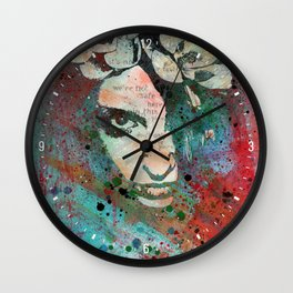 Hypothermia In A Halo (graffiti portrait painting) Wall Clock