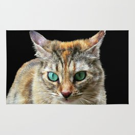 Cat with Turquoise Eyes Rug