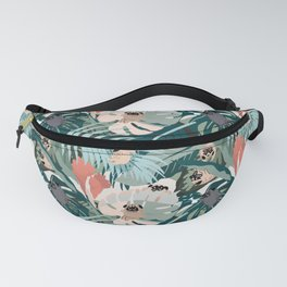 Pugs and Tropical Plants Fanny Pack