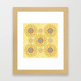 Sunshine Mandala Framed Art Print