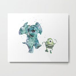 Mike and Sully Monsters Inc. Disneys Metal Print