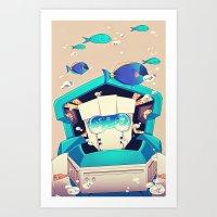 underwater Art Prints featuring Underwater by Coralus