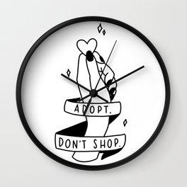 Adopt, don't shop! Wall Clock