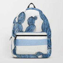 Blue rainbow cactus Backpack