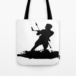 Board Out Of Your Mind Wakeboarding Silhouette Tote Bag