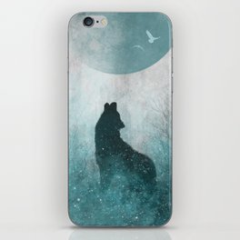 Howling Wolf: Space Silhouette iPhone Skin