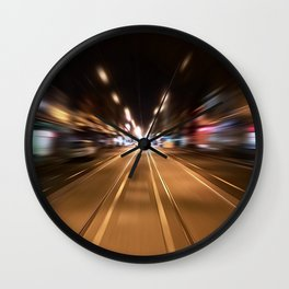 Smith Street in (Sparkly) Motion Wall Clock