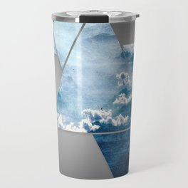Fragmented Clouds Travel Mug