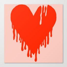 Melting Heart Canvas Print
